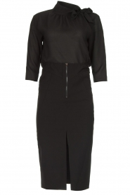 Patrizia Pepe |  Dress with pencil skirt Richi | black  | Picture 1