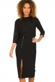 Patrizia Pepe |  Dress with pencil skirt Richi | black  | Picture 2