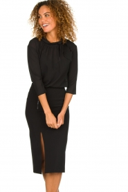 Patrizia Pepe |  Dress with pencil skirt Richi | black  | Picture 4
