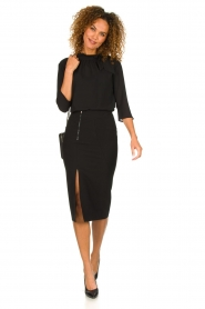 Patrizia Pepe |  Dress with pencil skirt Richi | black  | Picture 3