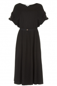 Patrizia Pepe |  Maxi dress with ruffles Philly | black  | Picture 1