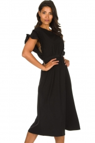 Patrizia Pepe |  Maxi dress with ruffles Philly | black  | Picture 4