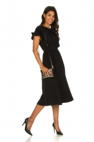 Patrizia Pepe |  Maxi dress with ruffles Philly | black  | Picture 3