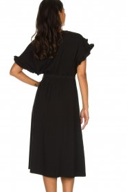 Patrizia Pepe |  Maxi dress with ruffles Philly | black  | Picture 6