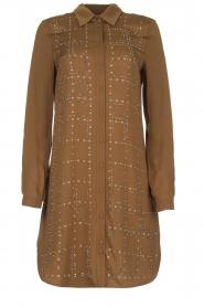 Patrizia Pepe | Dress with Swarovski stones Lidia | brown  | Picture 1