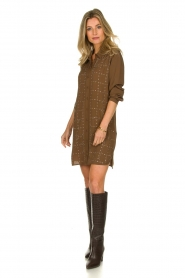 Patrizia Pepe | Dress with Swarovski stones Lidia | brown  | Picture 3