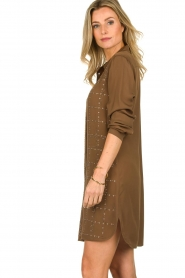 Patrizia Pepe | Dress with Swarovski stones Lidia | brown  | Picture 5