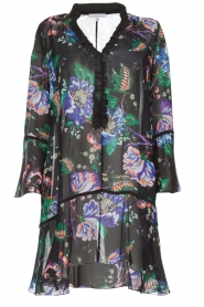 Patrizia Pepe |  Floral dress Isabella | black  | Picture 1