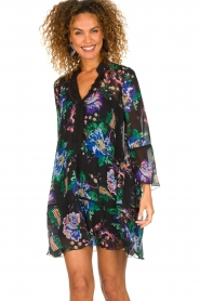Patrizia Pepe |  Floral dress Isabella | black  | Picture 2