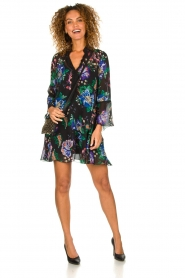 Patrizia Pepe |  Floral dress Isabella | black  | Picture 3