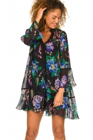 Patrizia Pepe |  Floral dress Isabella | black  | Picture 4