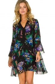 Patrizia Pepe |  Floral dress Isabella | black  | Picture 6