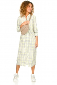 Patrizia Pepe |  Checkered midi dress Jamie | print  | Picture 3