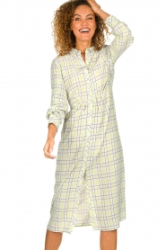 Patrizia Pepe |  Checkered midi dress Jamie | print  | Picture 2
