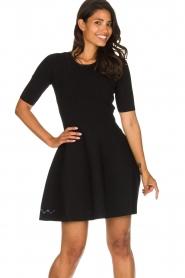 Patrizia Pepe |  Skater dress Rita | black  | Picture 4