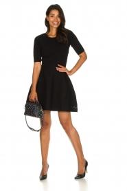 Patrizia Pepe |  Skater dress Rita | black  | Picture 3