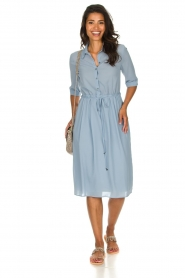Patrizia Pepe |  Midi dress Jip | blue  | Picture 3