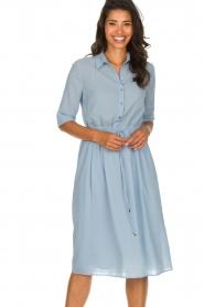 Patrizia Pepe |  Midi dress Jip | blue  | Picture 2