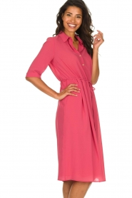 Patrizia Pepe |  Midi dress Jip | pink  | Picture 5