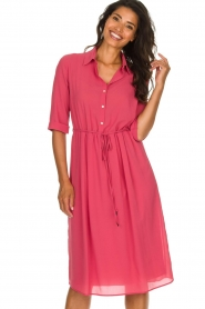 Patrizia Pepe |  Midi dress Jip | pink  | Picture 2