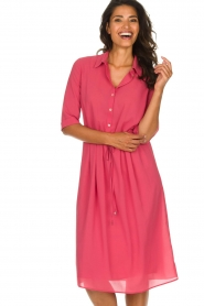 Patrizia Pepe |  Midi dress Jip | pink  | Picture 4