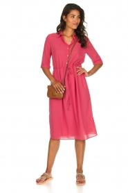 Patrizia Pepe |  Midi dress Jip | pink  | Picture 3