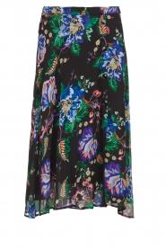 Patrizia Pepe |  Floral midi skirt Quintie | black  | Picture 1
