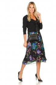 Patrizia Pepe |  Floral midi skirt Quintie | black  | Picture 2