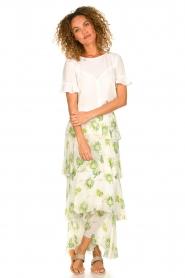 Patrizia Pepe |  Floral maxi skirt Lynn | white  | Picture 2