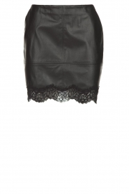 Patrizia Pepe |  Faux leather skirt Aida | black  | Picture 1