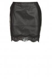 Patrizia Pepe |  Faux leather skirt Aida | black  | Picture 1