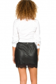 Patrizia Pepe |  Faux leather skirt Aida | black  | Picture 5