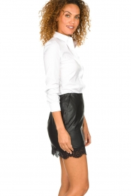 Patrizia Pepe |  Faux leather skirt Aida | black  | Picture 4