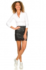 Patrizia Pepe |  Faux leather skirt Aida | black  | Picture 3