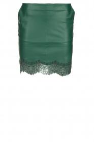 Patrizia Pepe |  Faux leather skirt Aida | green  | Picture 1