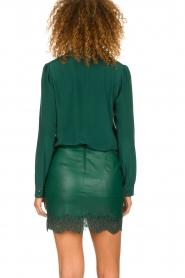 Patrizia Pepe |  Faux leather skirt Aida | green  | Picture 5
