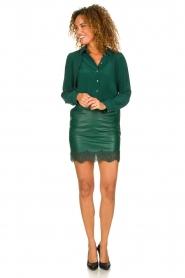 Patrizia Pepe |  Faux leather skirt Aida | green  | Picture 3