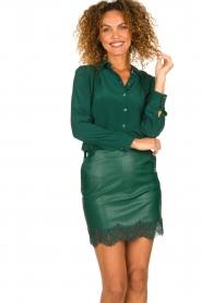 Patrizia Pepe |  Faux leather skirt Aida | green  | Picture 2