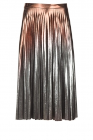 Patrizia Pepe |  Metallic plisse skirt Hannah | metallic  | Picture 1