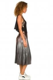 Patrizia Pepe |  Metallic plisse skirt Hannah | metallic  | Picture 4