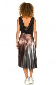 Patrizia Pepe |  Metallic plisse skirt Hannah | metallic  | Picture 5