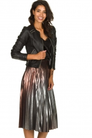 Patrizia Pepe |  Metallic plisse skirt Hannah | metallic  | Picture 4