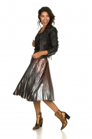 Patrizia Pepe |  Metallic plisse skirt Hannah | metallic  | Picture 3