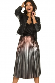 Patrizia Pepe |  Metallic plisse skirt Hannah | metallic  | Picture 2