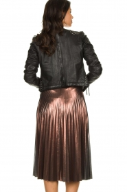 Patrizia Pepe |  Metallic plisse skirt Hannah | metallic  | Picture 6
