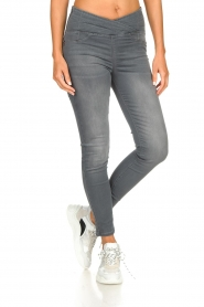 Patrizia Pepe |  High-waist skinny jeans Norella | grey   | Picture 2