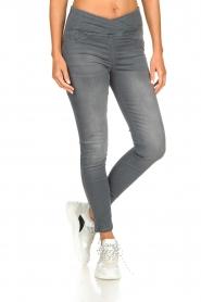 Patrizia Pepe |  High-waist skinny jeans Norella | grey   | Picture 3