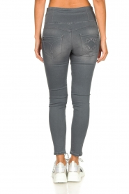 Patrizia Pepe |  High-waist skinny jeans Norella | grey   | Picture 5