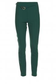 Patrizia Pepe |  Trousers with ceinture Bodine | green  | Picture 1