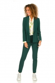 Patrizia Pepe |  Trousers with ceinture Bodine | green  | Picture 3